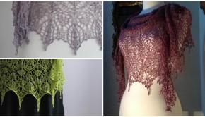 Lace shawl knitting patterns by Boo-Knits - get them at LoveKnitting!
