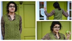 Wood Hollow sweater vest by Kirsten Kapur - get the pattern at LoveKnitting!