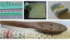 4 FREE dishcloth patterns - download at LoveKnitting!