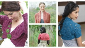 4 shrug knitting patterns - download at LoveKnitting!