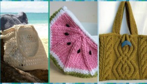 3 FREE bag knitting patterns - download at LoveKnitting!