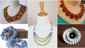 Top 5 knitted jewelry patterns - read more on the LoveKnitting blog!