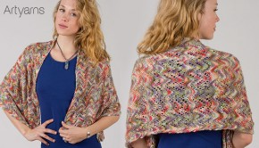 FREE Artyarns shawl knitting pattern available for 5 days only