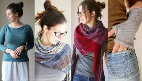 Designs by Melanie Berg, available to download at LoveKnitting!