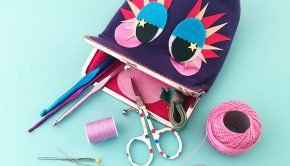 Monster Purse by Sew Yeah on the LoveKnitting blog