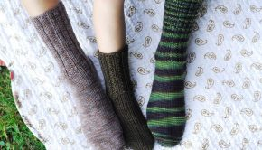 Fundamental Toe Up socks by Jen Hagan