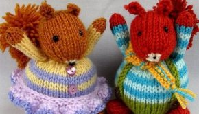 Squirrel Dolls by Fuzzytuft for Westmorland Red Squirrels Charity.